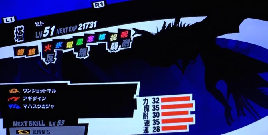 【ペルソナ5】「ハイパーカウンタを持ったセト」の入手&合体方法!剛毅コープMAX到達!