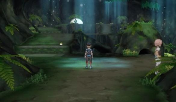 茂みの洞窟