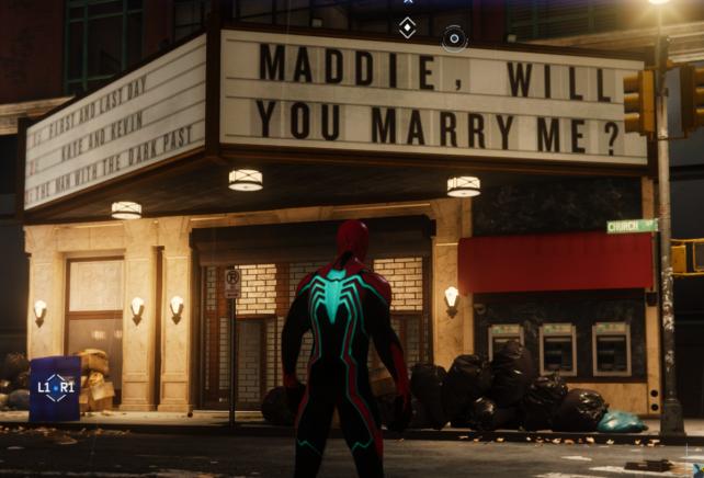 【スパイダーマン PS4】悲しみを背負ったプロポーズ看板の場所
